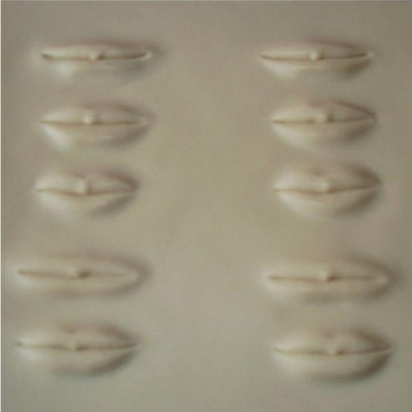 Übungsmatrize 3D Lippen