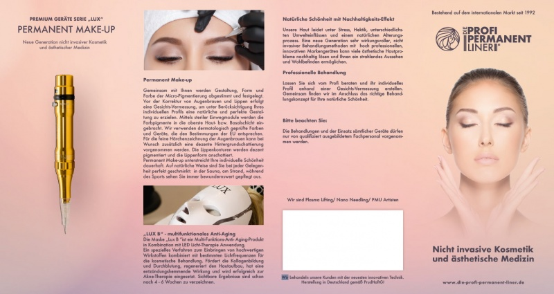 Flyer Plasma Lifting/ Nano Needling/ Permanent-Make-up