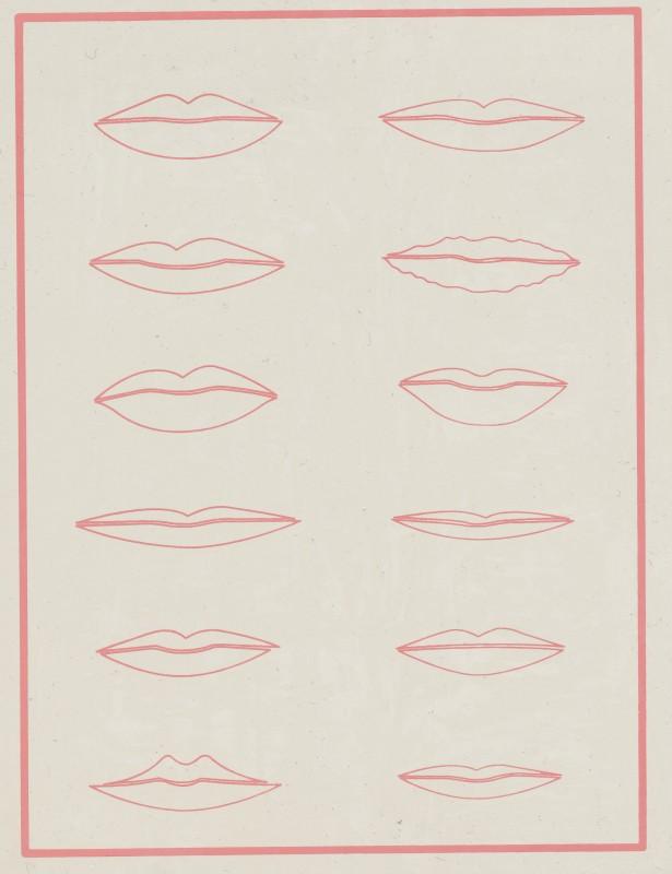 Übungsmatrize Lippen
