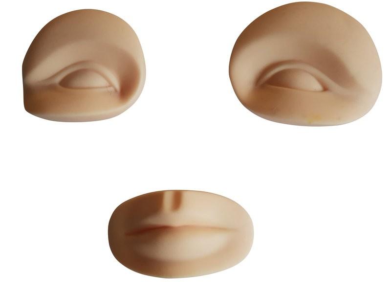 Übungsobjekt 3 D Augen/ Lippen