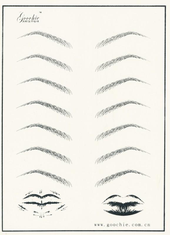 Übungsmatrize Augenbrauen