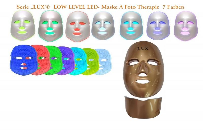 "Premium Maske ""Lux A"" mit Led - Foto Therapie"